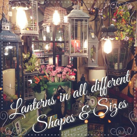 Tricia's Treasures Bistro: Lanterns w/ Luminara Candles are wonderful home accents
