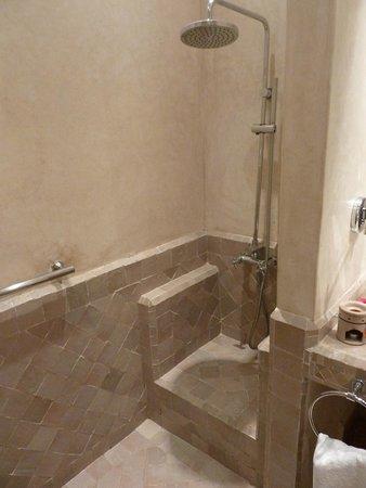 Les Jardins de la Medina: Disabled access room shower