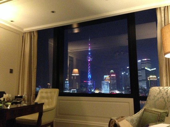 Waldorf Astoria Shanghai on the Bund: Night view from the room is unbelievable...