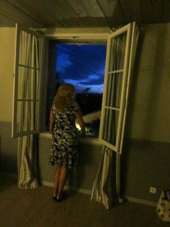 Villa Bastide: view from room at night