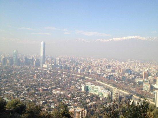 Parque Metropolitano: Providencia desde el parque