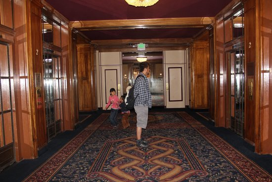 Hotel Whitcomb: エレベーターホール