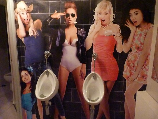 Roma Revolving: Picture in the upstairs men's loo.