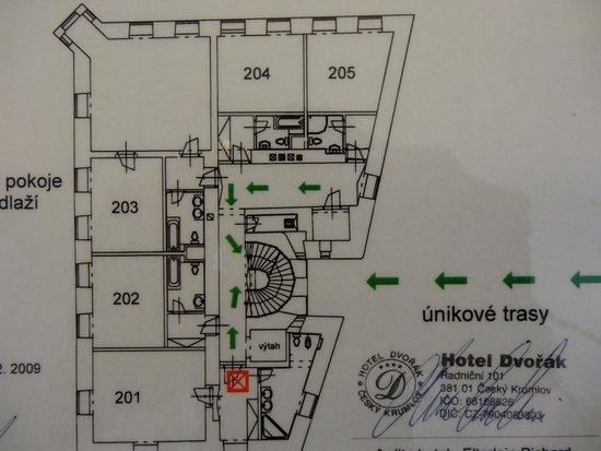 Hotel Dvorak: フロアプラン
