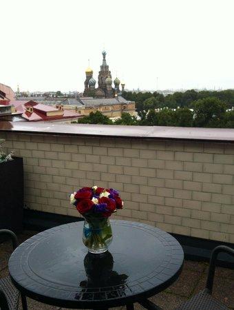 Belmond Grand Hotel Europe : Вид из номера с террасой 5-го этажа