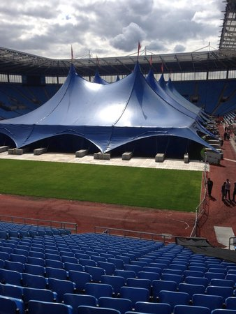 Coventry, UK: The Insomnia 52 Gaming Festival tent.  It's deceptive and it was large inside.  Perfect for the