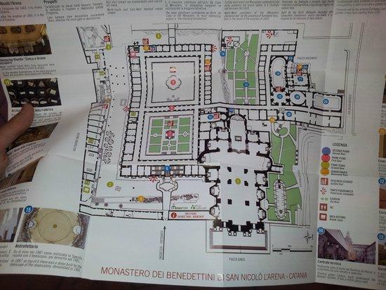 Monastero dei Benedettini: Cartina