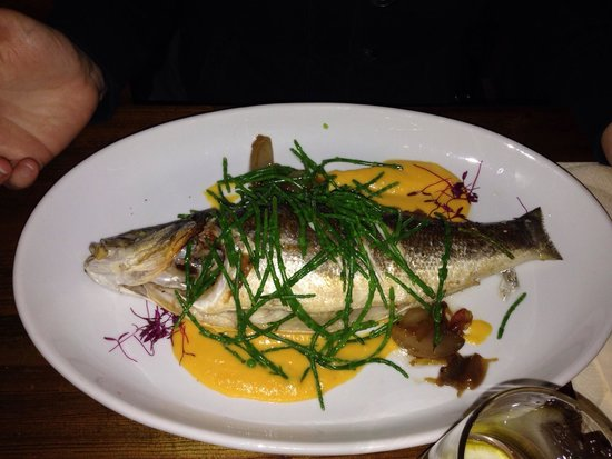 The Boathouse: Seabass (spigola)
