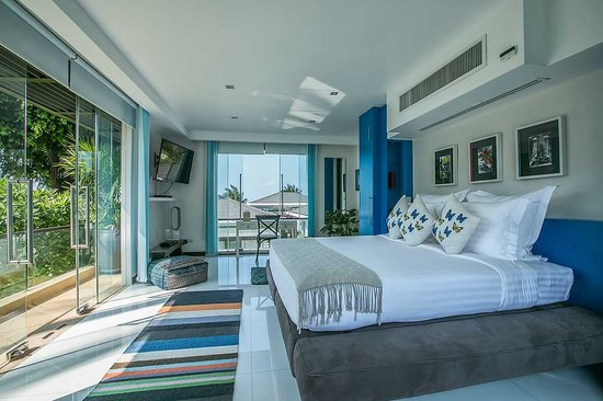 Lotus Samui: Lotus Beach Villa, one of 5 bedrooms in this beachfront villa.