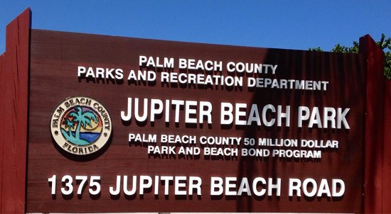 Jupiter, FL: Park entrance sign