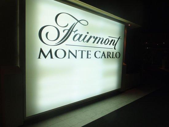 Fairmont Monte Carlo : fairmont sign