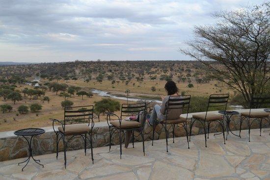 Tarangire Safari Lodge: terrazza sul fiume