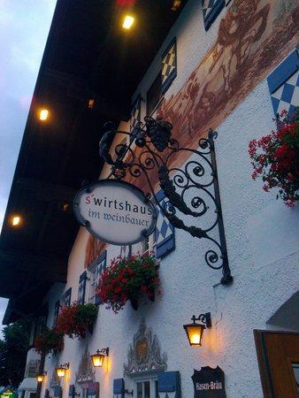's Wirtshaus im Weinbauer: The restaurant's sign