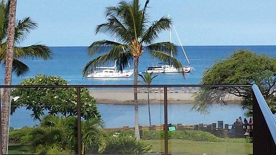 Waikoloa Beach Marriott Resort & Spa: Morning view from Cabana