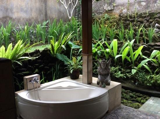 Nefatari Exclusive Villas : baignoire dans la verdure