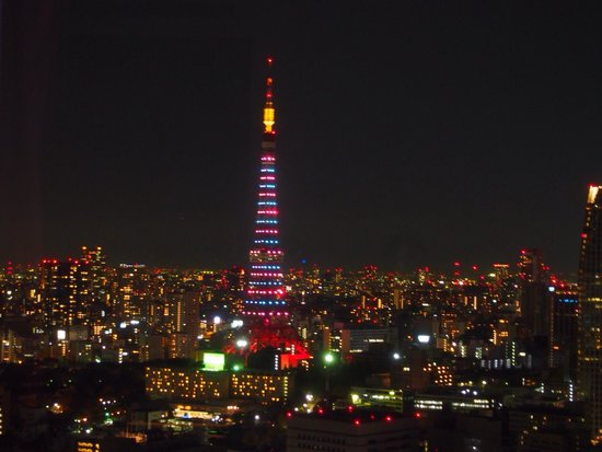Park Hotel Tokyo : 部屋から見た夜景!東京タワーをゆっくり眺めて至福の時でした☆