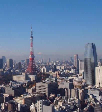 Park Hotel Tokyo: 朝、部屋から見た景色。 富士山までバッチリ見えました!