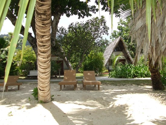 La Digue Island Lodge : beach chalet