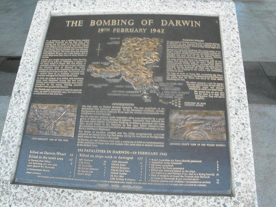 Darwin Wharf Precinct: WW2 Info Board of Bombings