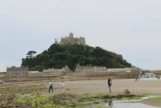 St. Michael's Mount: The view from the beach