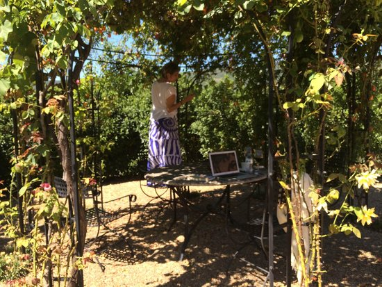 Casa Portagioia: Sweet little area on the grounds for writing, drinking wine etc.