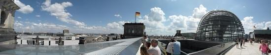 Plenarbereich Reichstagsgebäude: панорама с террасы Бундестага