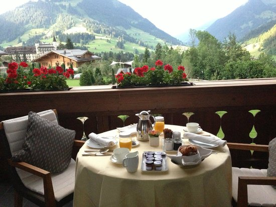 The Alpina Gstaad: In-room breakfast