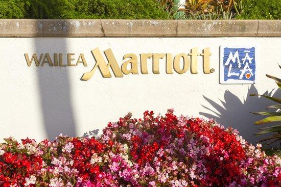 Wailea Beach Marriott Resort & Spa: Sign facing ocean