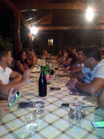 Ristorante Pizzeria La Capannina: Il nostro tavolo