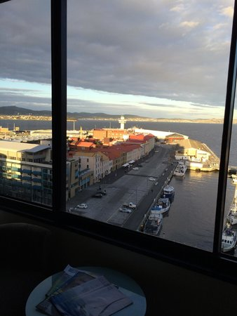 Grand Chancellor Hotel Hobart: View from room on floor 18 of Grand Chancellor Hobart