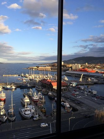 View from room on floor 18 of Grand Chancellor Hotel Hobart