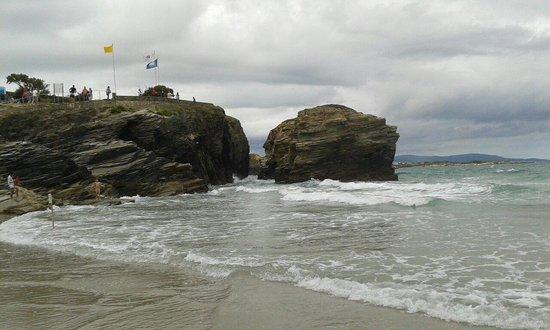 Playa de las Catedrales: Subiendo la marea