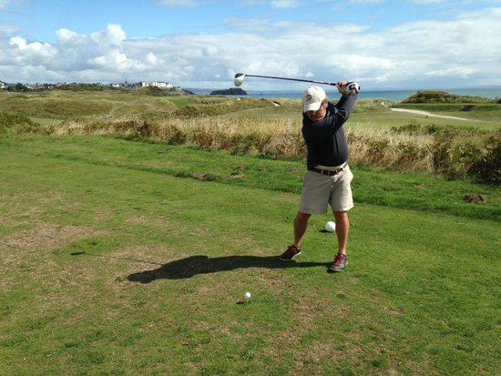 Tenby Golf Club: Great views of the town