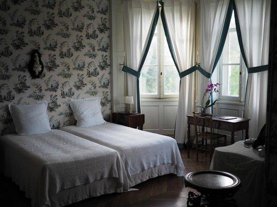 Chateau de la Jumelliere : une chambre avec deux lits simples