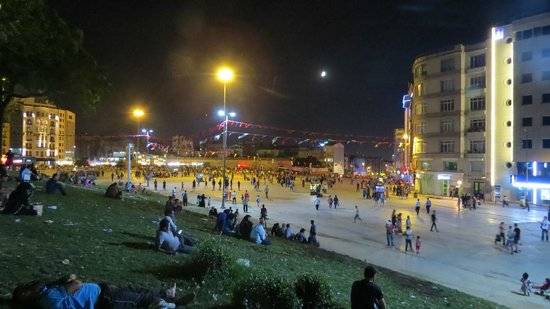 Taksim Park on a Tuesday night in August