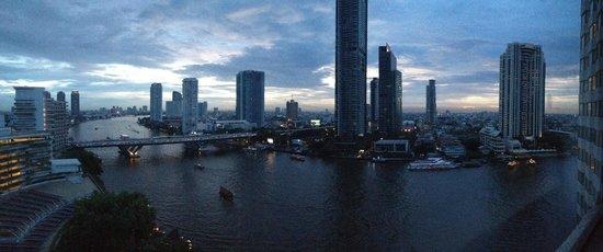 Shangri-La Hotel,Bangkok: view from room 1426 iphone panoramic