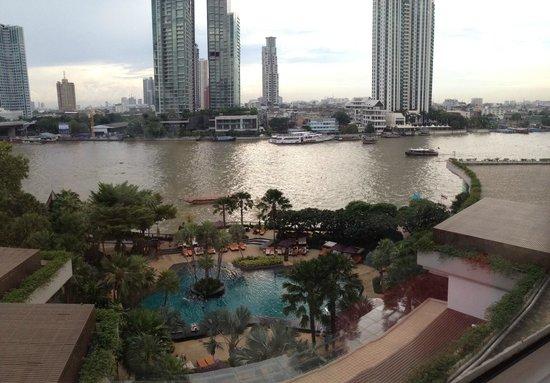 Shangri-La Hotel,Bangkok: view from room 635 iphone panoramic