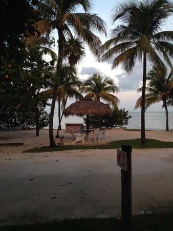 Lime Tree Bay Resort: The view from our front porch room 111