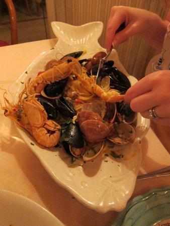 CHEZ BLACK: Shellfish pasta main course