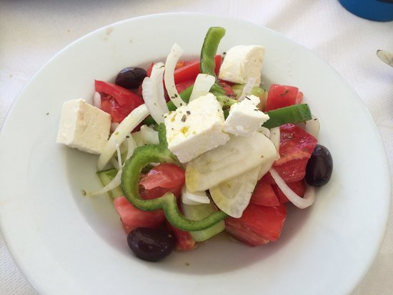 El Greco Restaurant Cafe: This is just a sample if the so called Greek salad. And also it is illegal to serve it as Greek