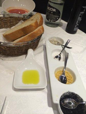 Restaurante-Arrocería El Rincón del Faro: Degustación de sales