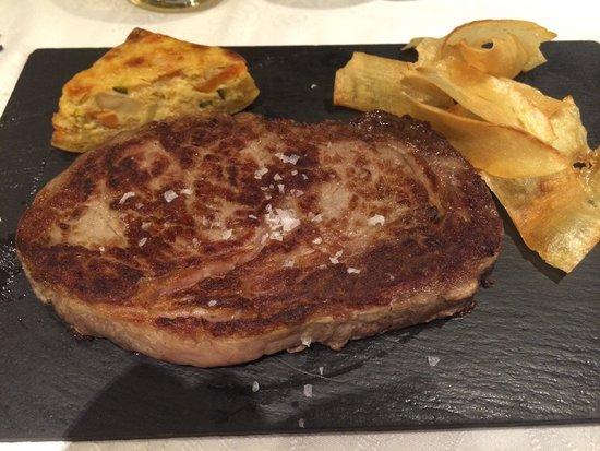 Restaurante-Arrocería El Rincón del Faro: Carne americana muy tierna con yuca