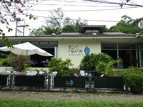 Front of Blue Mango restaurant