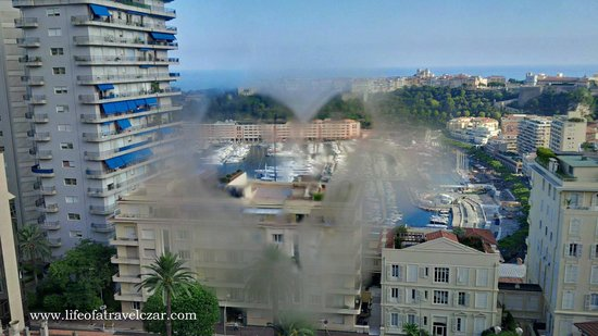 Novotel Monte Carlo: View from the room with my little sign of love
