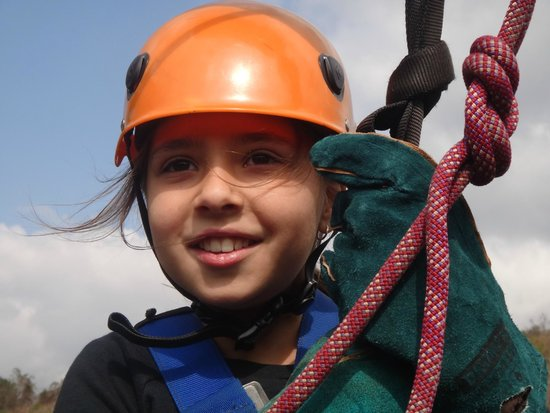 Skyway Trails: Jessica having fun