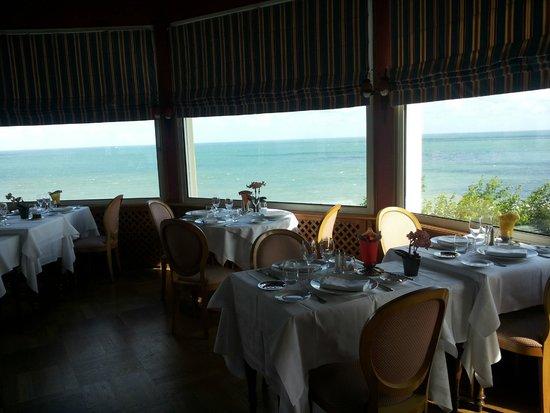 Dormy House: Vista del mare dal ristorante