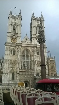 Big Bus Tours - London: Westminster Abbey from the top of the Big Bus