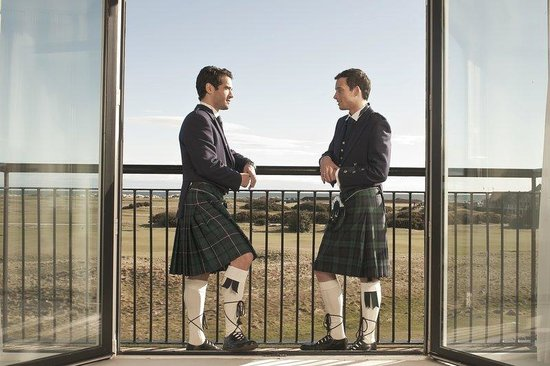 Old Course Hotel, Golf Resort & Spa : Weddings - Groomsmen - View of Old Course
