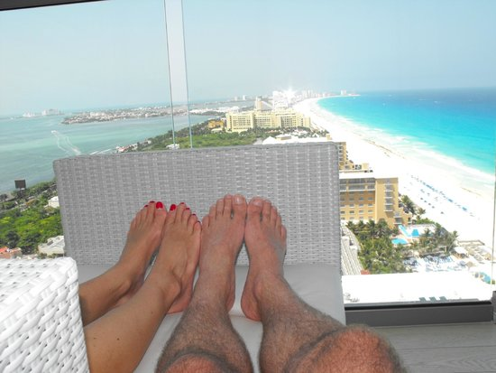 Secrets The Vine Cancún: Room view frim 27th floor