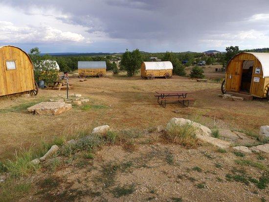 Zion Ponderosa Ranch Resort: Roulotte de cows boys